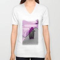 leaf V-neck T-shirts featuring Leaf by Aloke Design