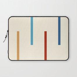 Abstract Minimal Retro Stripes Jivamukti Laptop Sleeve