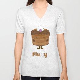 Fluffy Chocolate Mousse Cake Unisex V-Neck