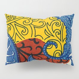 African Print of Fused Colors Pillow Sham