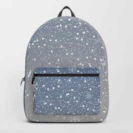 Cute Subtle Winter Background with snow. Backpack