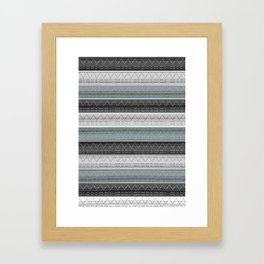 Morse Code Stripe Framed Art Print