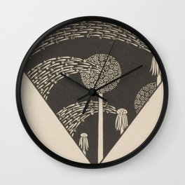 Art Nouveau Dandelion Seeds Wall Clock