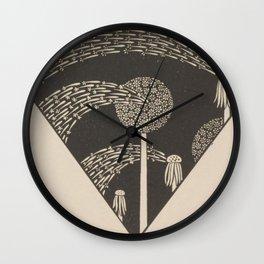 Art Nouveau Dandelion Seeds Wall Clock