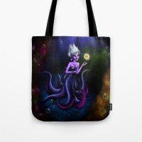 ursula Tote Bags featuring Ursula by Callie Clara
