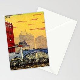 Edo Bridge Landscape - Digital Remastered Edition Stationery Cards