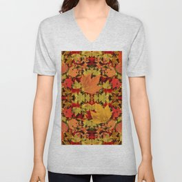 Leaves all Around Unisex V-Neck