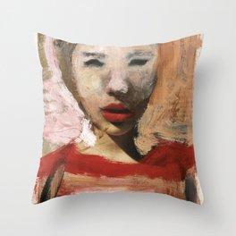 Scarlett/Newspaper Serie Throw Pillow