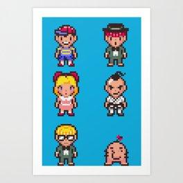 Friends of Mother - Pixel Art Art Print