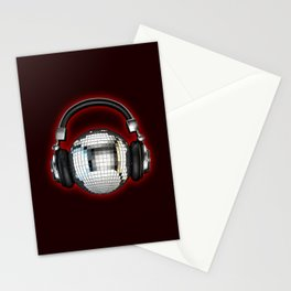 Headphone disco ball Stationery Cards