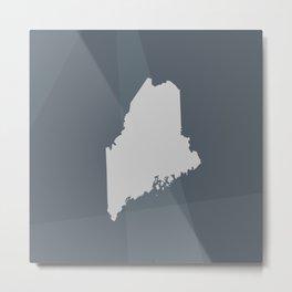 Maine State Metal Print
