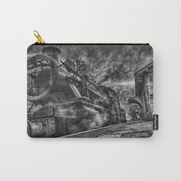 Manipulated Steam Train Image Carry-All Pouch