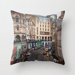 Victoria Street in Edinburgh, Scotland Throw Pillow