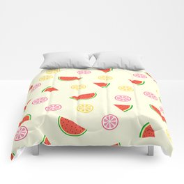 Lemons and watermelons Comforters