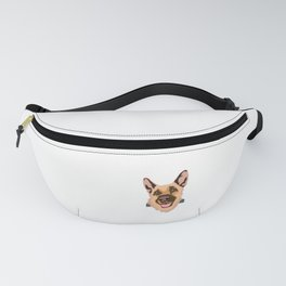 Certified Dog Lover? Here's a cute t-shirt design with an illustration of Dog inside a pocket Fanny Pack