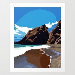 Mountain Meets Ocean California Marin Coastline Art Print