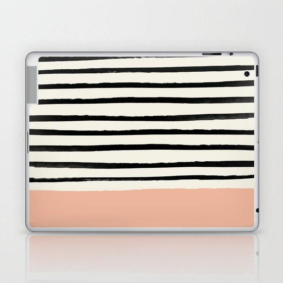 Peach x Stripes Laptop & iPad Skin
