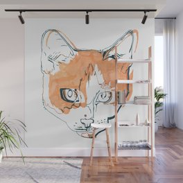 Kitten with a Soul Patch Wall Mural
