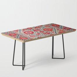Kermina Suzani Uzbekistan Embroidery Print Coffee Table