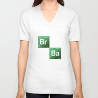 chemistry V-neck T-shirts featuring BrBa chemistry by Nxolab