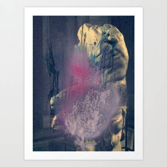 VIRGIN WOODS x THE BUTCHER (front) Art Print