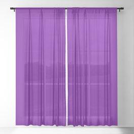 Purple V Sheer Curtain