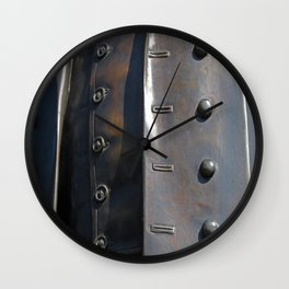 Buttoned, Unbuttoned  Wall Clock