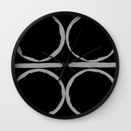 Circles in Perfect Harmony Wall Clock