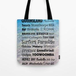 Queensland Poster Tote Bag
