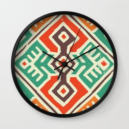 Ancient totem pattern Wall Clock