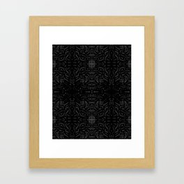 Black art Framed Art Print