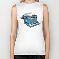 party Biker Tanks featuring The Composition. by Matt Leyen