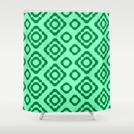 Floral No. 1 --Seafoam Shower Curtain