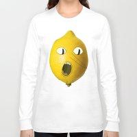 lemongrab Long Sleeve T-shirts featuring Lemongrab! by Al's Visions