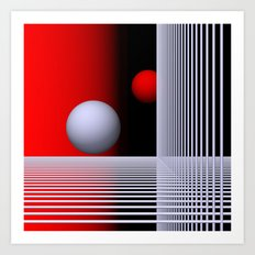 experiments on geometry -7- Art Print