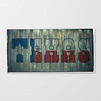 texas Canvas Prints featuring Texas by Kam Minatrea
