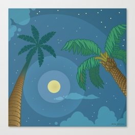 Supermoon Over Aruba Canvas Print