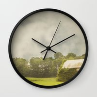 camouflage Wall Clocks featuring Camouflage by Finch & Maple
