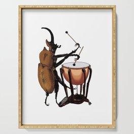 Beetle Tries Timpani Serving Tray