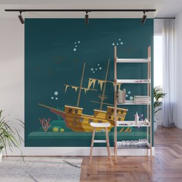 The galleon wreck Wall Mural