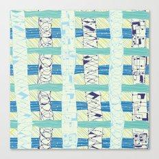 Doodled Checks Canvas Print