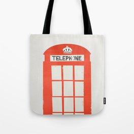 Red London Telephone Box Tote Bag