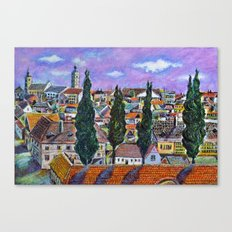 Landscape from Sibiu, Transylvania Canvas Print