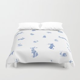 pattern with bunnies Duvet Cover