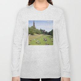 Princes Street Gardens on a sunny day 1 Long Sleeve T-shirt