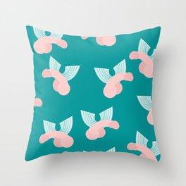 Nicole Archer's Bag of Dicks Throw Pillow