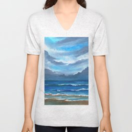 Here Comes the Rain Unisex V-Neck