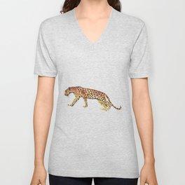 Watercolor leopard Unisex V-Neck