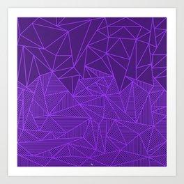 B Rays Violet Art Print
