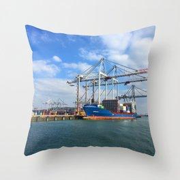 Southampton Port Throw Pillow